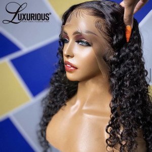 Wholesale Long Preplucked 28 30 Inch Deep Wave Frontal Wig 360 Lace Wig Brazilian Lace Front Human Hair Wigs For Women