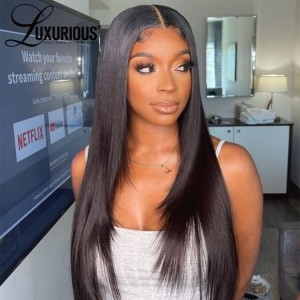13×4 Lace Front Wigs Straight Human Hair Wigs For Women Brazilian Hair Wigs Pre-plucked Natural Hairline