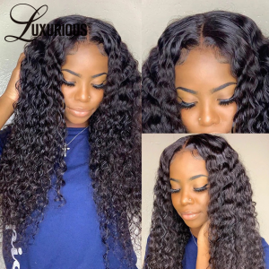 Brazilian Water Wave Full Lace Human Hair Wigs Pre Lace Wig With Baby Hair Natural Hairline Body Pre-plucked Full Lace Wigs