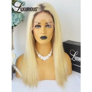 Luxurious Hair 13A Grade Two Tones Ombre Short Root  Smooth Soft And Healthy 613 Color Wig With Baby Hair Braizlian Virgin Hair