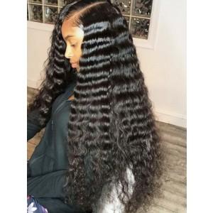 Luxurious Hair Deep Wave Human Hair 13*4 Lace Closure With Bundles Brazilian Remy Hair Weaves Bundles