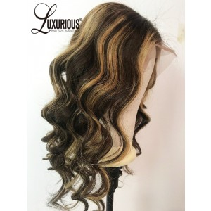 Luxurious New Design Hanna Brown Human Hair Wigs Piano Highlights Color Wig Shop Online Buy Wigs Near Me