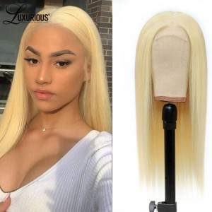 613 Blonde Straight 13x4 Human Hair Wigs HD Transparent Lace Wigs Lace Front  Human Wigs For Women  Remy