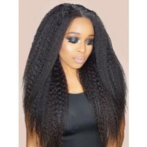 "Luxurious Kinky Straight Hair Weave Human Hair Extensions Brazilian Hair Bundles Natural Color 10""-28"" Virgin Hair"