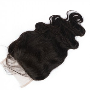 7*7 Body Wave Lace Closure Free Part Human Hair Natural Color Brazilian Remy Hair Closure Bleached Knots With Baby Hair