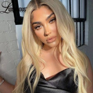 613 Honey Blonde Body Wave 100% Human Hair Lace Front Wig For Women Pre Plucked Remy 13x4  Peruvian Hair