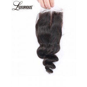 4*4 Silk Base Lace Closure Body Wave Natural Color Peruvian Remy Hair Silk Top Closure With Pre Plucked Free Part