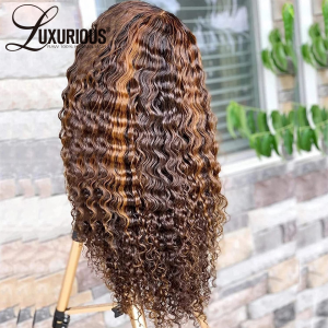 Lace Front Wigs Human Hair Deep Wave Wigs 150% Density 13X4 Lace Frontal Human Hair Wigs for Black Women Pre Plucked with Baby Hair