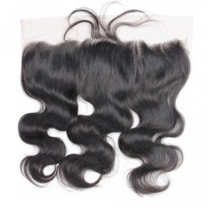Luxurious Body Wave 13x4 Ear To Ear Full Silk Base Lace Frontal Closure Brazilian Remy Hair Closure Pre Plucked Natural Hairline